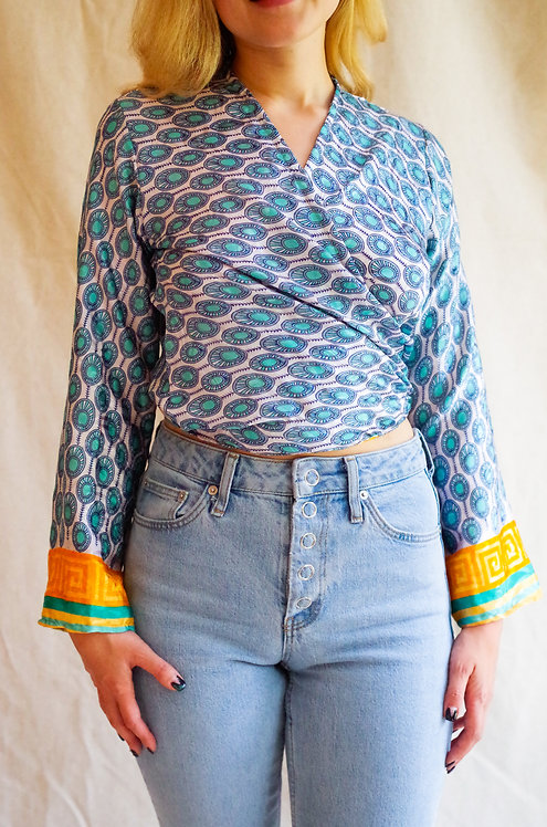 Wrap tops: multiple fabric options