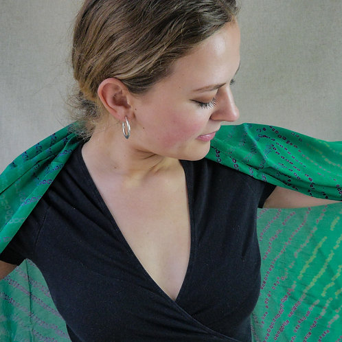 Silk Scarfs in Marble: multiple fabric options