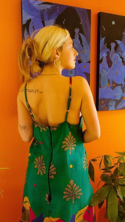 Silk Paisley Shift Dress (Size S: Multiple Fabric Options