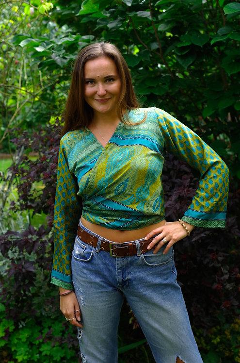Vibrant paisley wrap