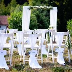 Židle bílé dřevo