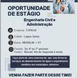Oportunidade de Estágio - Engenharia Civil e Administração
