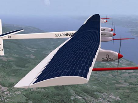 Avião Elétrico solar em ação