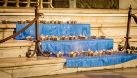 Candele all'altare