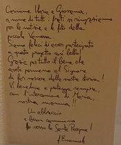 lettera fra Emanuele