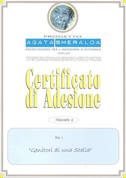 Certificato di adesione