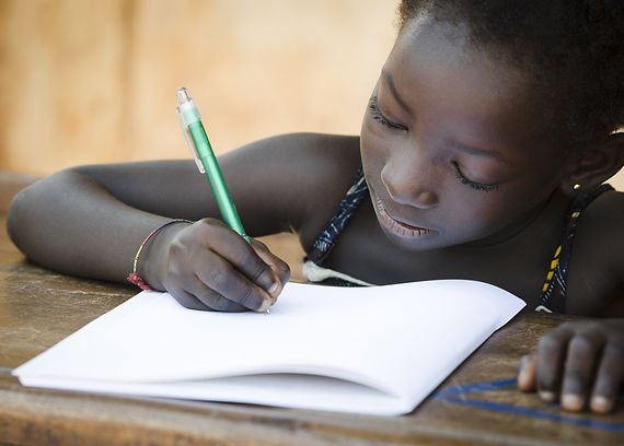 Schooling Symbol - African Young Girl Wr