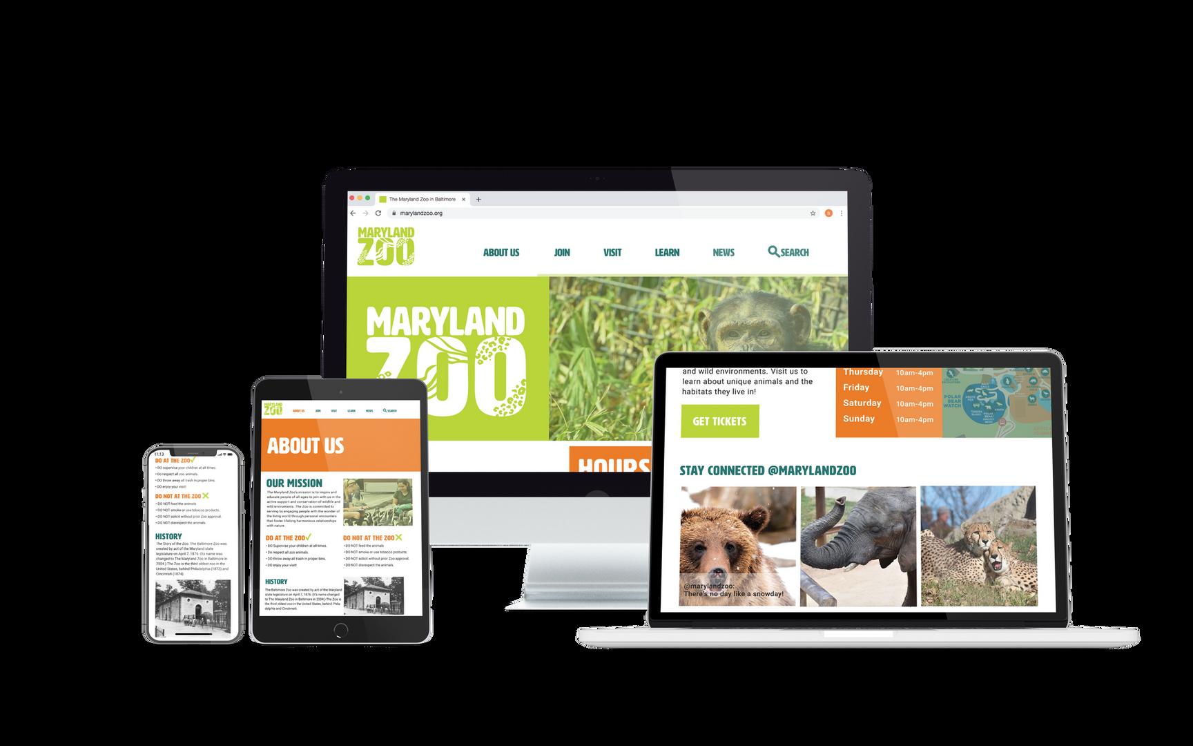 Maryland Zoo Website