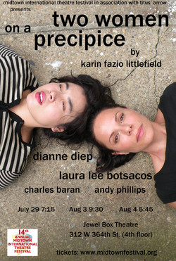 Two Women on a Precipice poster July 20 2013