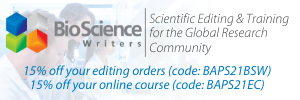 Bio Science Writers Banner Ad - 300 x 10