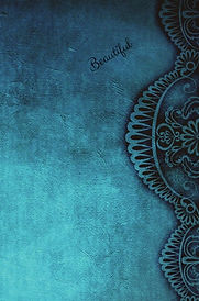 Turquoise Design Blank NoteBook Bookcove