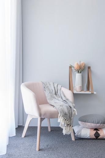 Pink bedroom Chair