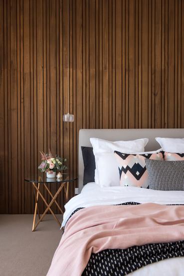 Wood Clad Bedroom Wall