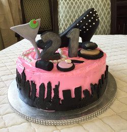 NYC Cosmo Cake