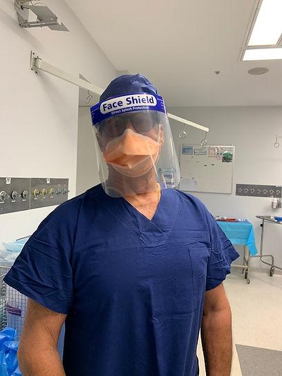 Professor Havas ready to perform laser s