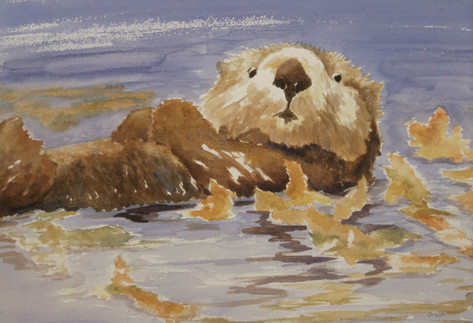 Otter with Kelp