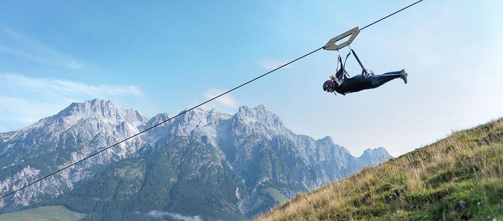 Flying Fox XXL Leogang Salzburg, Austria