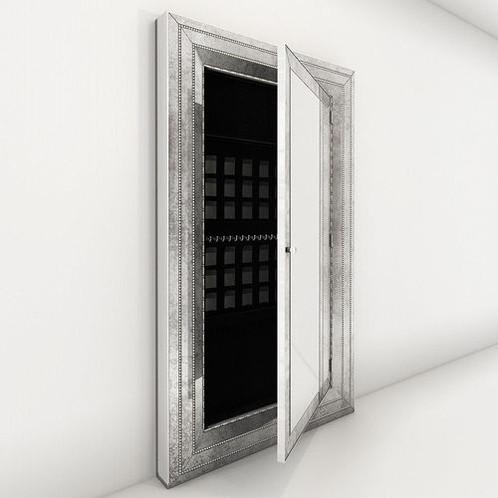 Melange Glam Floor Mirror with Jewelry Storage | homenclature