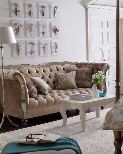 In Addition, All Indiana Residences Must Pay The 7% Sales Tax Whether Itu0027s  Picked Up Or Shipped. The Leslie Mirrored Tufted Sofa Is A Haute House ...