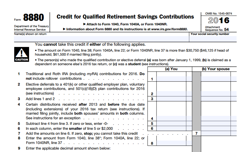 save for retirement & earn tax credits with irs form 8880! | wealth