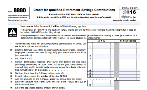 Save For Retirement & Earn Tax Credits With IRS Form 8880!