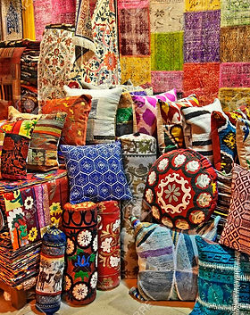 -turkish-traditional-carpets-cushions-on