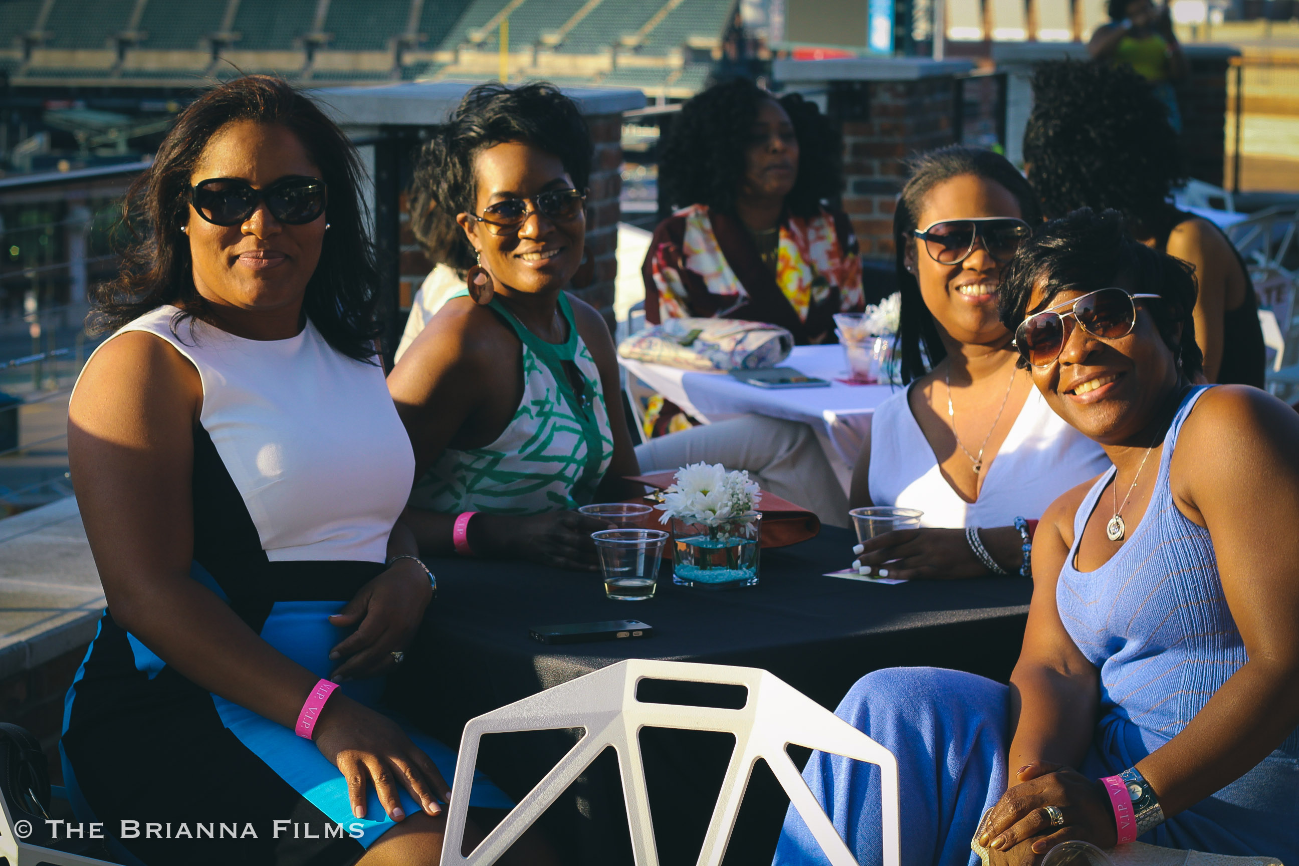 Beautiful guests enjoying themselves