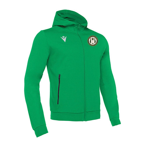 Holker Old Boys Cello Full Zip Hooded Sweatshirt Green Adult