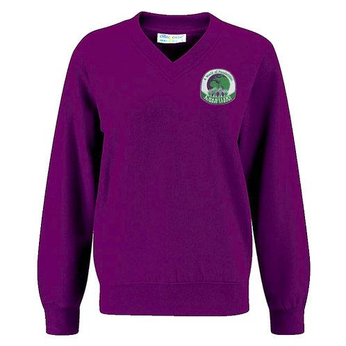 Chantlers V-Neck Sweatshirt Purple