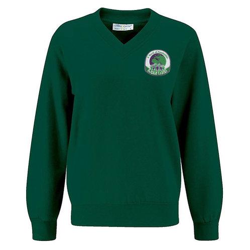 Chantlers V-Neck Sweatshirt Green