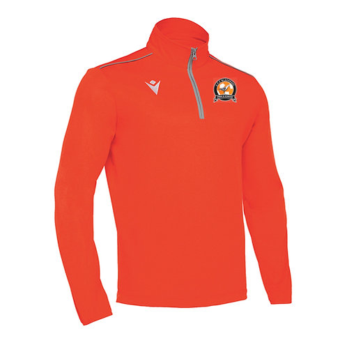 AFC Blackpool Havel 1/4 Zip Top Orange Adult