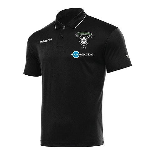 Golcar United Draco Polo Shirt Black Adult
