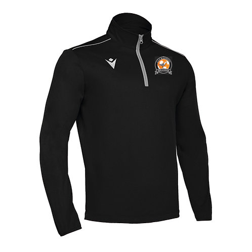 AFC Blackpool Havel 1/4 Zip Top Black Adult