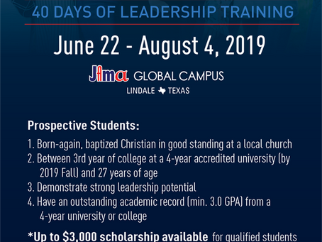 GLDI 40-DAY LEADERHSIP TRAINING