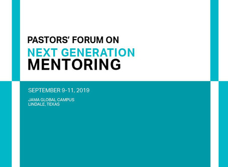 [9.9-11.2019] Pastors' forum-next generation mentoring