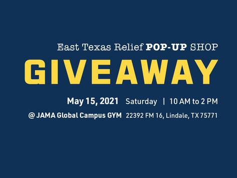 East Texas Relief Pop-up Shop