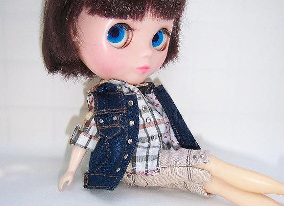 Sleevless denim jacket : wootd099 :Blythe | Pullip