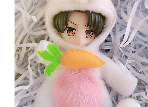 Mascot 005 The bunny : Milky with baby pink | Select size