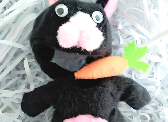 Mascot 005 The bunny : Black | Select size