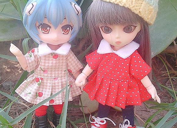 Minidress with polka dot : wootd007 : Ob11/NenDoll