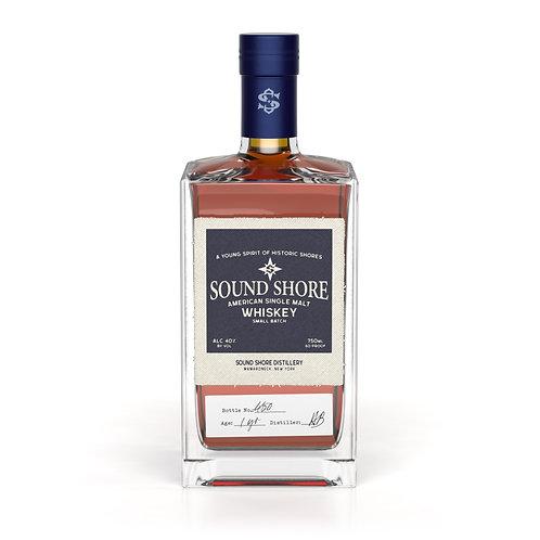 Sound Shore American Single Malt Whiskey, 750ml