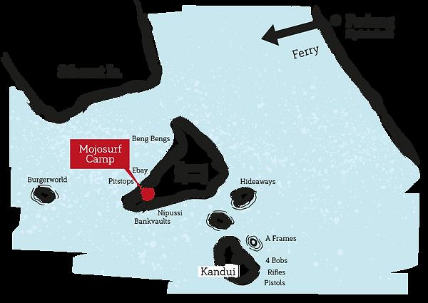 Mentawais How to get there, Padang Ferry, Kandui Map, Mojosurf Mentawais