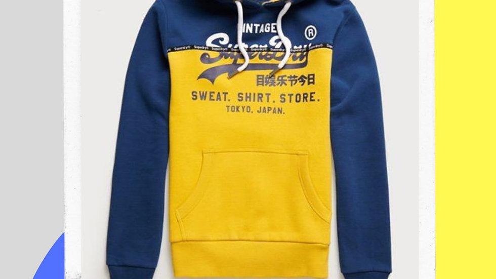 Men's Superdry Sweat Shirt Panel Hoodie