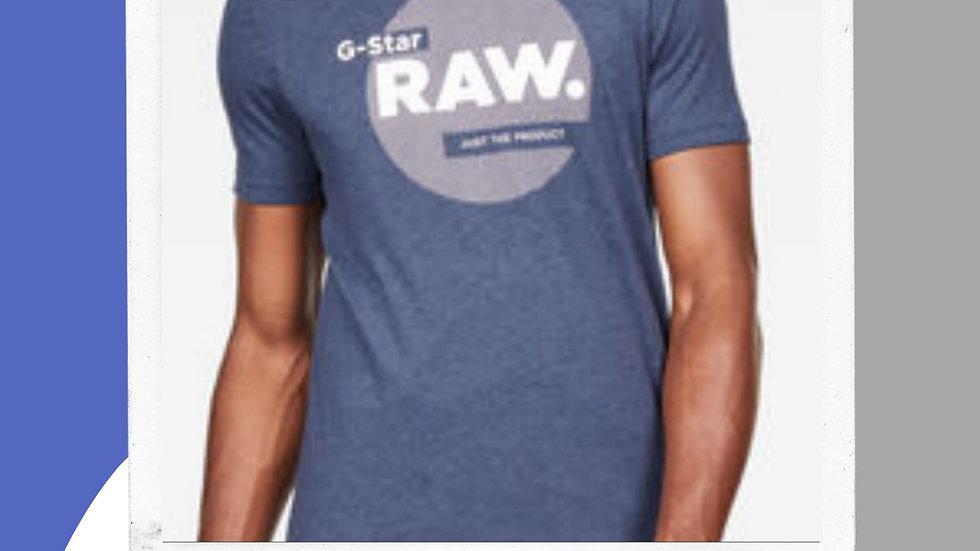 Mens Gstar Slim Logo Circle Tshirt