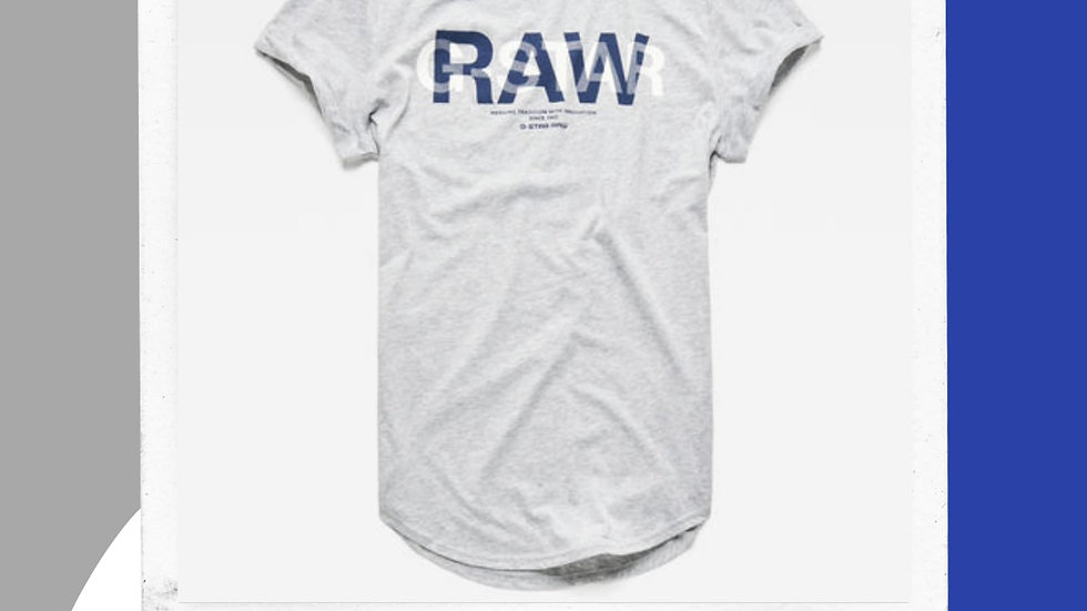 Mens Gstar Raw Logo Tshirt
