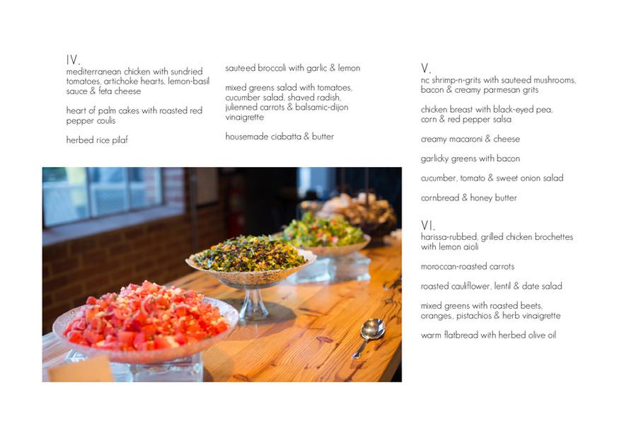buffet menus