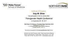 Wake Forest Transgender Health Conference