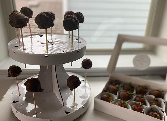 12 Cake Pops and 12 Dipped Strawberries