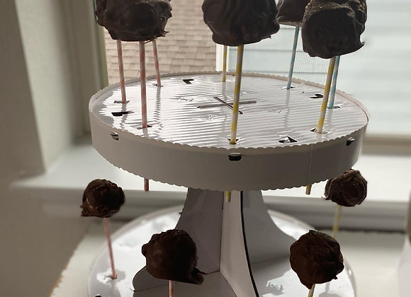 12 Cake Pops and Cake Pop Stand