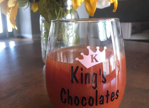 King's Chocolate Stemless Wine Glass